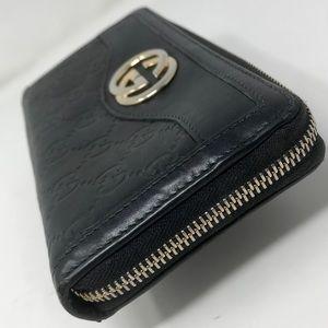 Gucci Bags - **SOLD** Gucci BlackGuccisima Marmont Zippy Wallet